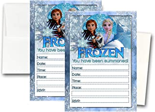 Crafting Mania LLC. 12 Frozen Birthday Invitation Cards (12 White Envelops Included) #1