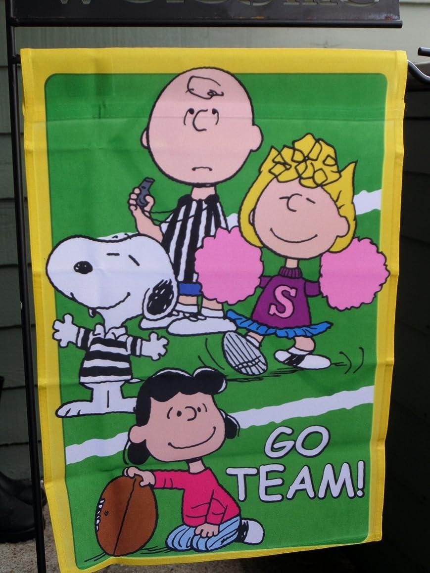 Snoopy Peanuts Gang ~ GO TEAM ! ~ Garden Flag 12