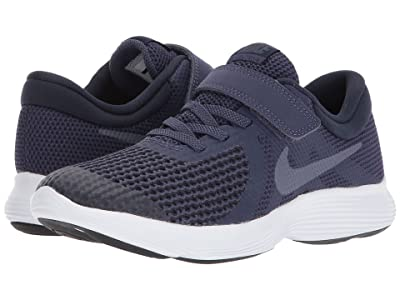 Nike Kids Revolution 4 (Little Kid) (Natural Indigo/Light Carbon/Obsidian/Black) Boys Shoes