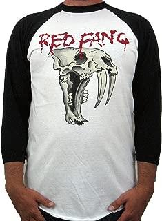 """Men's Red Fang """"Fang"""" Raglan"""