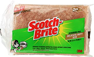 Scotch-Brite Cup/Glass Scourer, Brown, Pack of 2