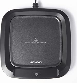 HOWAY Coffee Mug Warmer, 4-Hour Auto Shut Off Coffee Cup Warmer Plate for Desk, Office and Home, 16 Watt Electric Cup Warm...