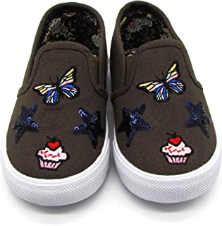 Nicole Miller New York Toddler Girls Slip-On Shoes Light Weight, Casual Walking and Running Shoes