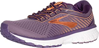 Brooks Womens Ghost 12 Running Shoes, Black/Pink/White