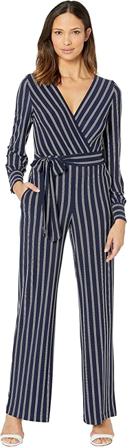 f8c419b2211 Lauren ralph lauren striped satin jumpsuit