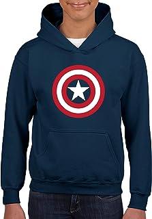Desconocido Capitán Steve Rogers First Avenger - Sudadera niños con Capucha sin Cordones