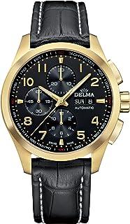 DELMA - Klondike Classic Reloj para Hombre Analógico de Cuarzo con Brazalete de Piel de Vaca 42601.660.6.032