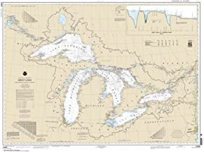 Paradise Cay Publications NOAA Chart 14500: Great Lakes: Lake Champlain to Lake of the Woods, 35.5 X 47.1, TRADITIONAL PAPER