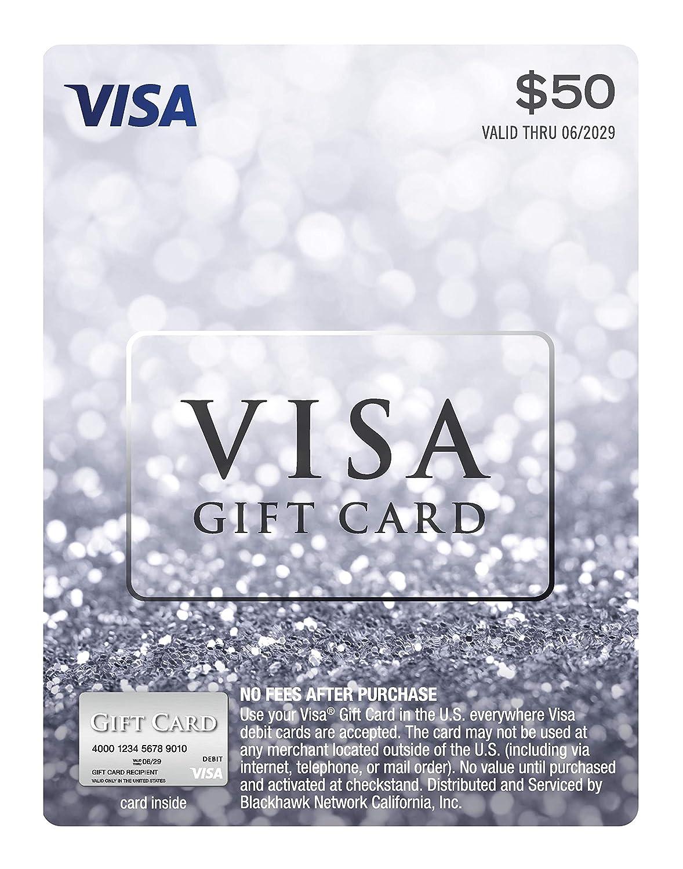 $50 Visa Gift Card Luxury Super-cheap goods plus $4.95 Fee Purchase