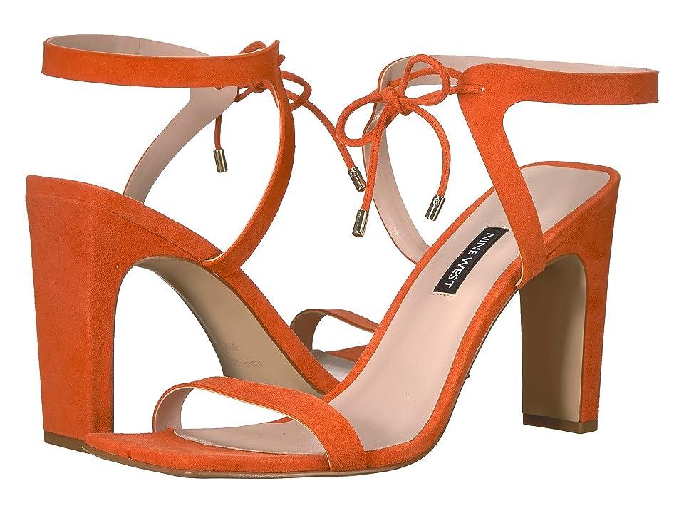 Nine West Longitano Heel Sandal (Orange Suede) Women