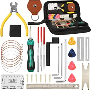 33Pcs Guitar Repairing Maintenance Tool Kit with Carrying...