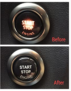Sunyat Engine Start Stop Button Repair kit 3D Sticker Decal for BMW E90 E91 E60 E61 E84 F10 F11 E70 F30 F25 GT