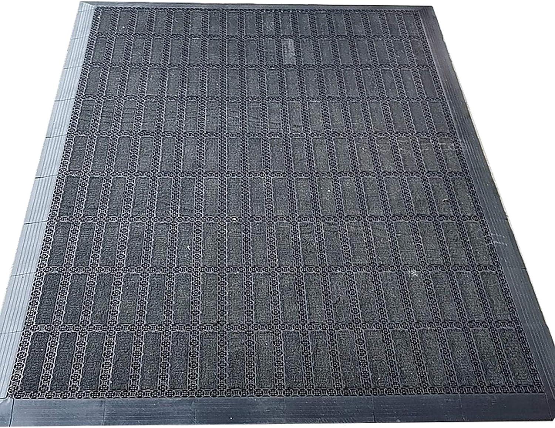 HWF Grey service Doormats for Outdoor Austin Mall Absorbent Non-Slip Washa Entrance