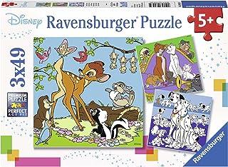 Ravensburger- 3 Puzzles de 49 pièces Les Amis Disney Mickey Mouse Enfant, 08043, Néant