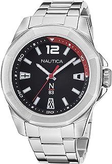 Nautica Men's Quartz Stainless Steel Strap, Silver, 22 Casual Watch (Model: NAPTBF104)