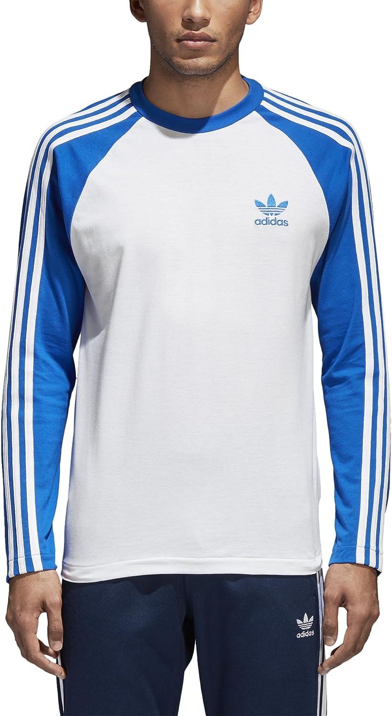 Adidas Originals Men's 3 Stripes Long Sleeve TShirt