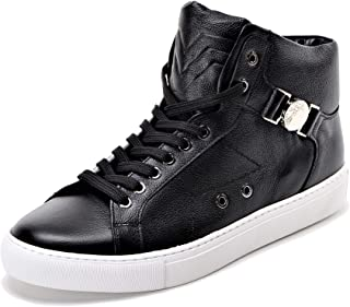 Versace Collection Half-Medusa Mens Leather High Top Sneaker Black US11 IT44