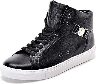 Best versace black leather medusa high top sneakers Reviews