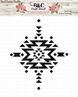 Stencil Tribal Aztec Boho Navajo Native Craft and Home Decoration