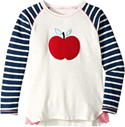 Fuzzy Apple Raglan Tee (Toddler/Little Kids/Big Kids)