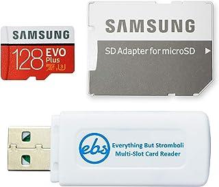 Samsung 128GB Evo Plus Micro SDXC Memory Card Class 10 (MB-MC128G) Works with Samsung Galaxy J7 (2018), J7 Star, J7 V (2018) Phones Bundle with (1) Everything But Stromboli MicroSD/SD Card Reader