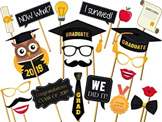 Custom Graduation Photo Booth Props - Size 36x24, Personalized Class of 2019, Congrats grad, University Graduation Party, Party Decorations, Handmade DIY Party Supply Photo Booth Props