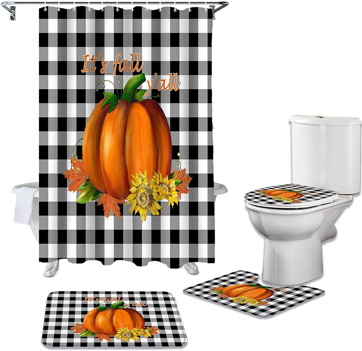 DaringOne Japan's largest assortment Thanksgiving Day 4Pcs Bathroom Set with Sale Special Price Accessory Bath