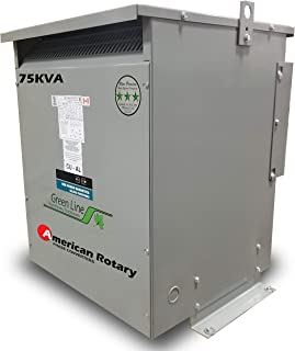American Rotary 75 kVA 240D/208D Volt Primary to 208D/240D Volt Secondary 3 Phase Transformer