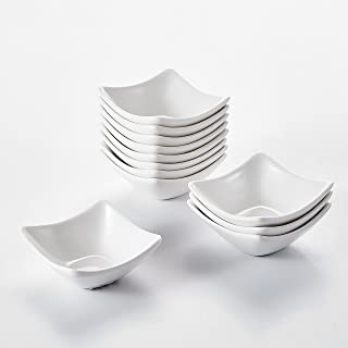 MALACASA, Series Ramekin.Dish, Cuencos Mini Tazones de Postre Porcelana 12 piezas 3