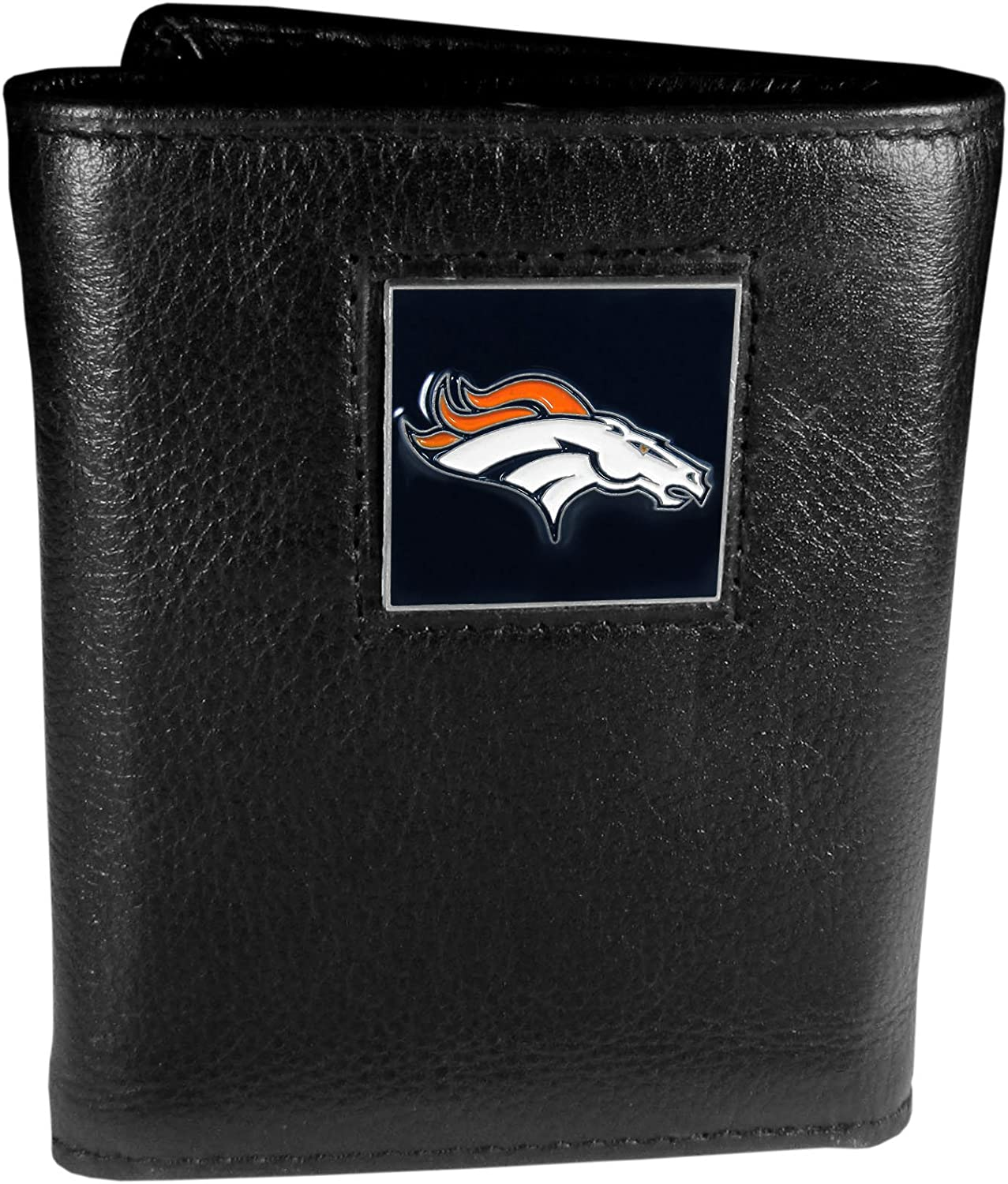 Siskiyou NFL Denver Free shipping anywhere in the nation Broncos Black Leather Wallet Challenge the lowest price of Japan Tri-Fold
