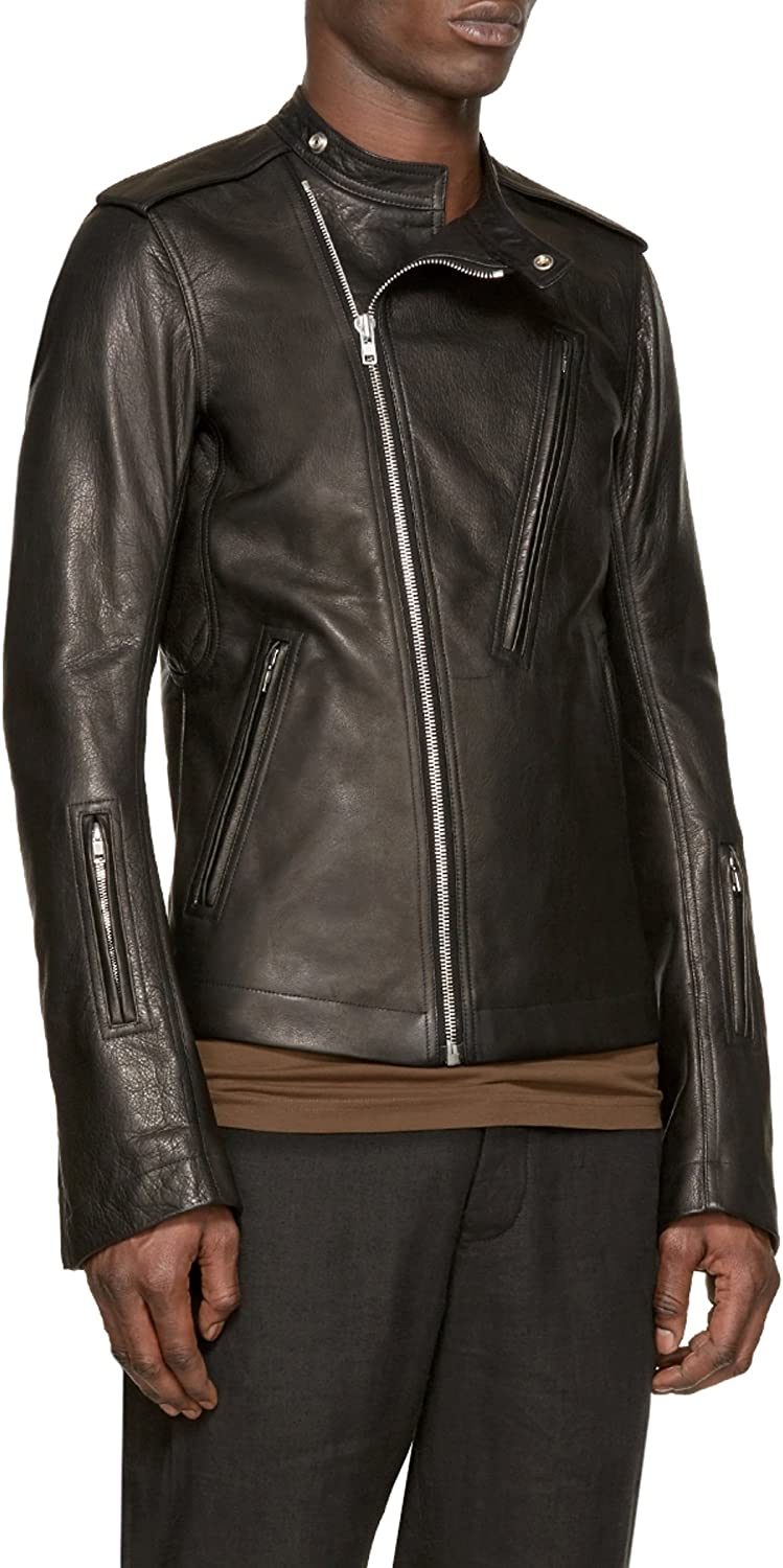 World Of Leather Distressed Moto Thick Leather Jacket Biker