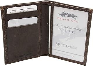 """FRANCINEL Porte monnaie /""""clic clac/"""" ultra plat en cuir réf 37966 2 coul. disp."""