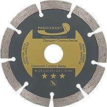 PRODIAMANT Diamantslijpschijf 125 x 22,2 mm UNIVERSAL diamantschijf voor het snijden van beton, steen, baksteen en bouwmat...