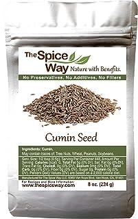 The Spice Way Cumin Seeds - whole cumin seed 8 oz resealable bag