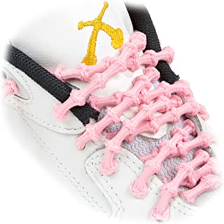 """XTENEX Men's - X200 Pink 30"""" (Patented) Adjustable Eyelet Blocking No Tie Elastic Shoe Laces For An Extreme Lock In Performance Fit"""