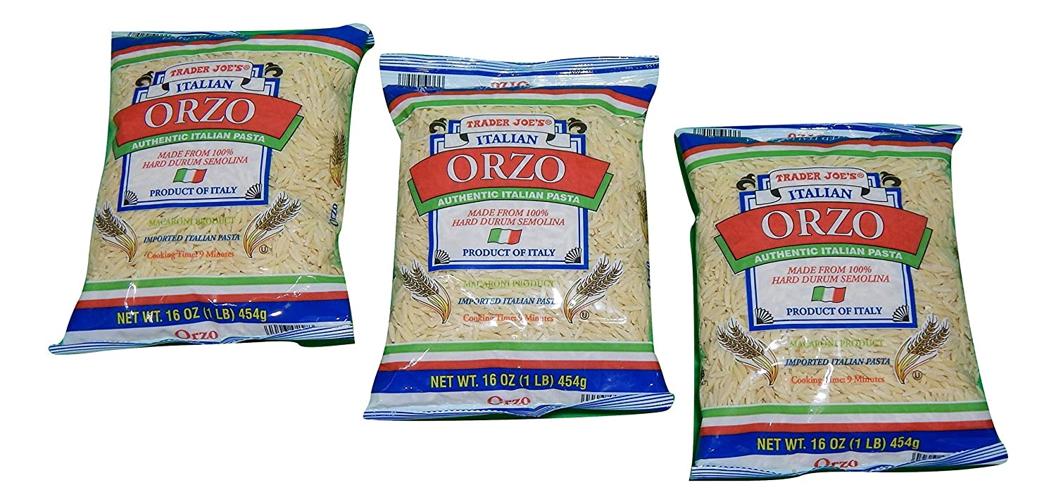 Trader Joe'sAuthentic Ranking TOP20 Imported Italian Orzo 1-Lb SEAL limited product Pac Pasta Bag