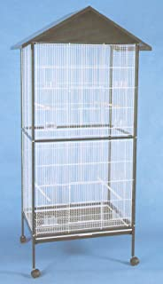 Mcage Large Outdoor/Indoor Flight Aviary Canary Parakeet Cockatiel LoveBird Finch Cage 0591 Black