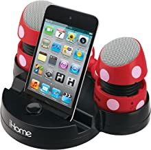 Minnie Mouse Rechargeable Stereo Speakers with Base for iPods, Laptops and iPhones (DM-M793)