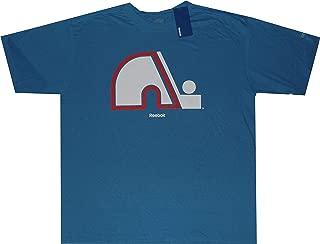 Quebec Nordiques Pro Style Logo Vintage Throwback Oversized Shirt
