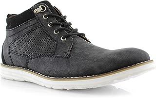 Polar Fox Sanders MPX506058 Mens Memory Foam Mid-Top Perforated Two-Tone Casual Chukka Sneakers