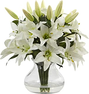 Best artificial lilies in glass vase Reviews