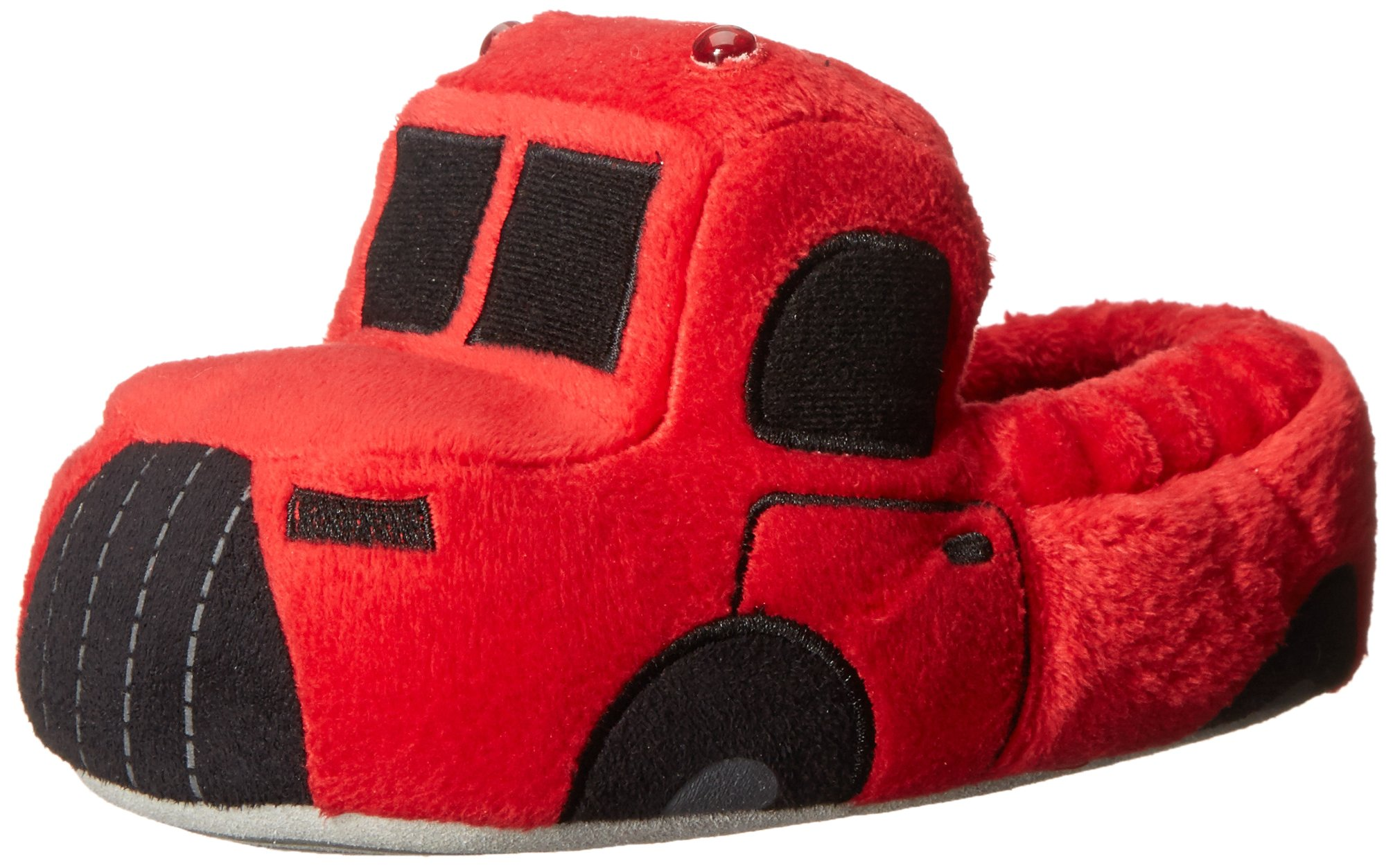Image of Light Up Fire Truck Slippers for Boys and Toddlers