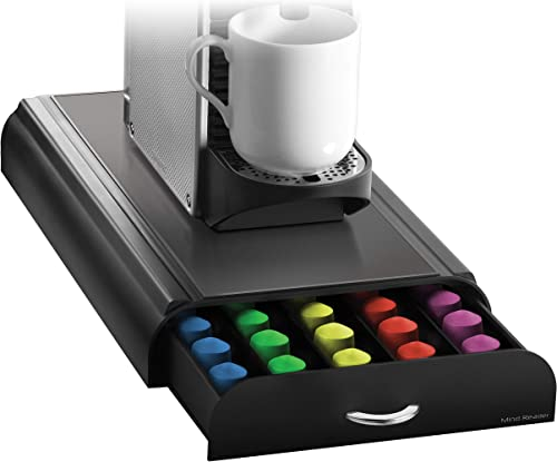 Mind Reader Anchor Coffee Pod Storage Drawer for 50 Nespresso Capsules, Black