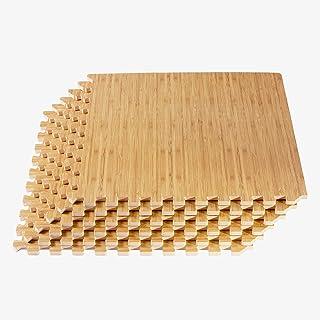 New Forest Floor 3/8 Inch Thick Printed Foam Tiles, Premium Wood Grain Interlocking Foam Floor Mats, Anti-Fatigue Floorin...