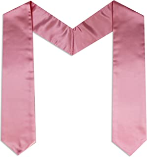 pink graduation stole