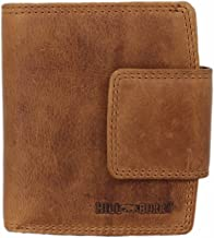 Hill Burry Wallet for Women Men Bifold Large Capacity Genuine Leather ID Card Holder Organizer Vintage London