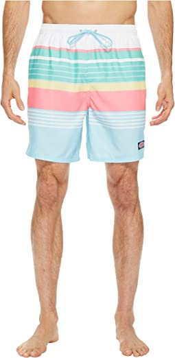 Vineyard Vines - Boca Bay Stripe Chappy Swim Trunks