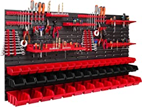 47 stapelboxen gereedschapshouder wandrek werkplaatsrek gereedschapswand 156 x 78 cm gereedschapshouder opslagsysteem opbe...