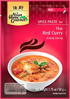 Asian Home Gourmet Spice Paste for Thai Red Curry (Kaang Daeng), 1.75-Oz Pouch (PACK OF 3)