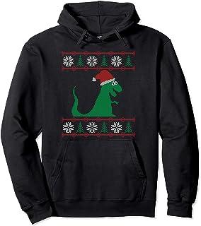 Noël laid dinosaure Santa T-Rex Sweat à Capuche